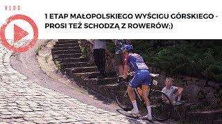 Małopolski Wyścig Górski etap 1 - Prosi też schodzą z rowerów:)