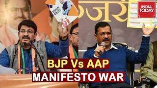 BJP Vs AAP Manifesto War Ahead Of Delhi Assembly Elections 2020