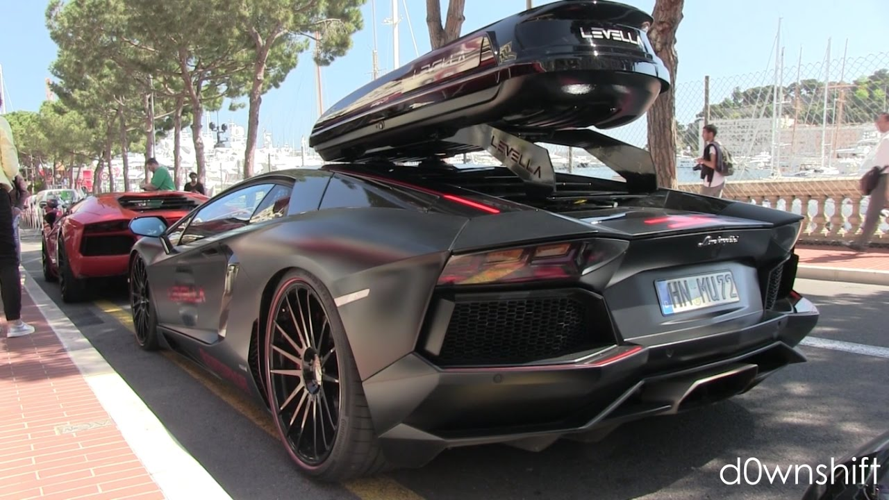 Roof Rack Lamborghini >> FLAMING Levella Aventador with a ROOF BOX!! - YouTube