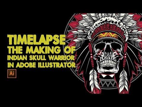 TImelapse the making of american native skull warrior