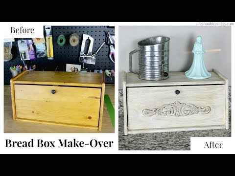 Bread Box Make-Over With Americana Decor Chalky Paint
