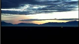 SunRise In San Luis Valley Colorado  Timelapse With City Lights Of Alamosa Twinkling