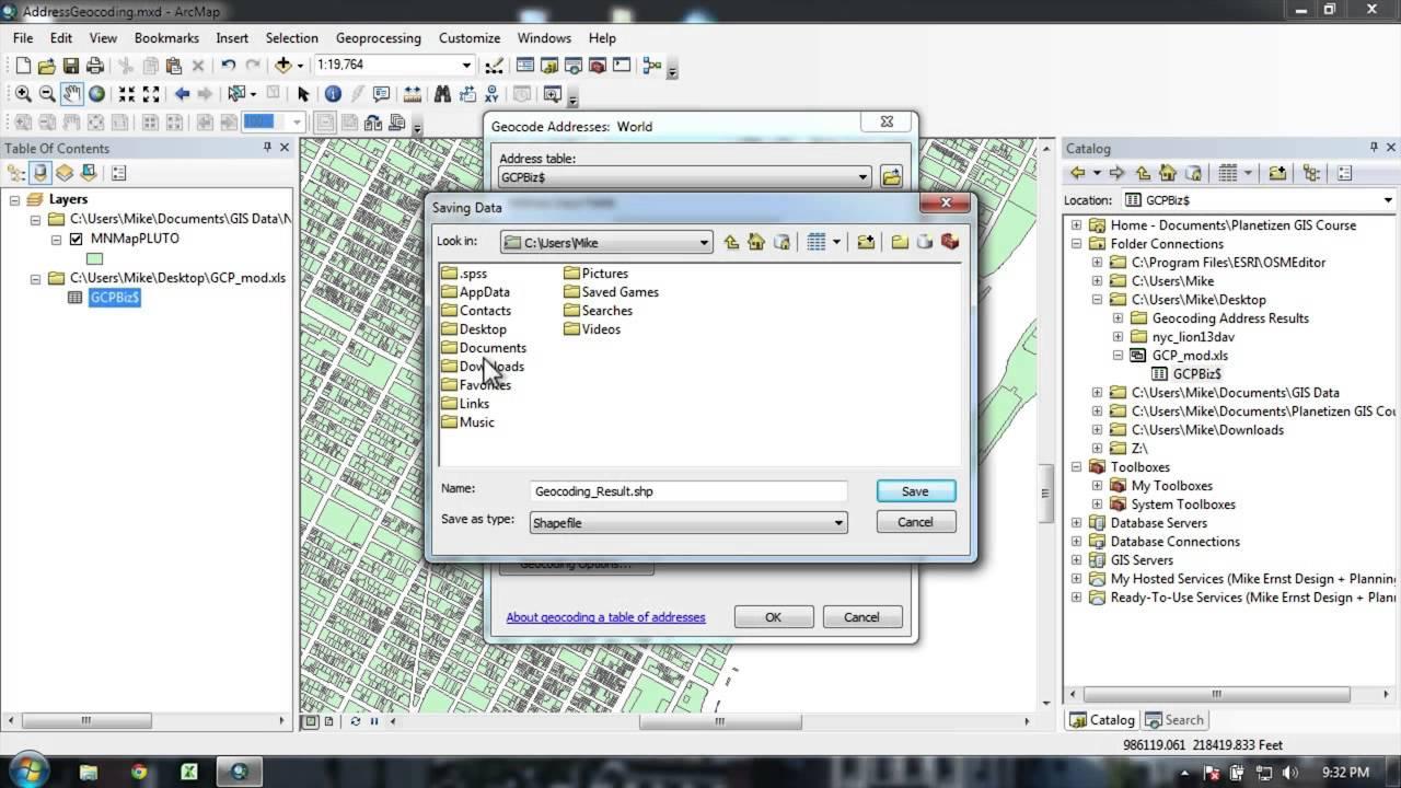 Gis Fundamentals Geocoding Geoprocessing And Online Sharing