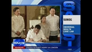 Universal Health Care Law, nilagdaan na ni Pangulong Duterte
