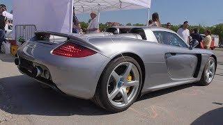 Porsche Carrera GT   Start Up, Revs, Driving   Munich