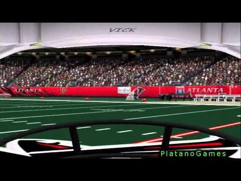First Person View Football - New Orleans Saints vs Atlanta Falcons - 2nd Half - ESPN NFL 2K5 - HD