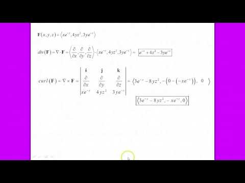 UPenn Math 114 Introduction to how to Calculate Gradient, Divergence, and Curl