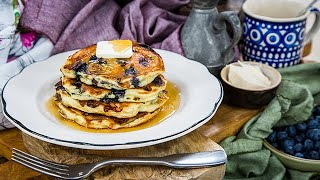 Country Cottage Cheese and Blueberry Pancakes - Home & Family