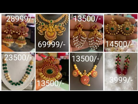 Light weight gold jewelry with price order on WhatsApp @+919330584411 all over India shipping|
