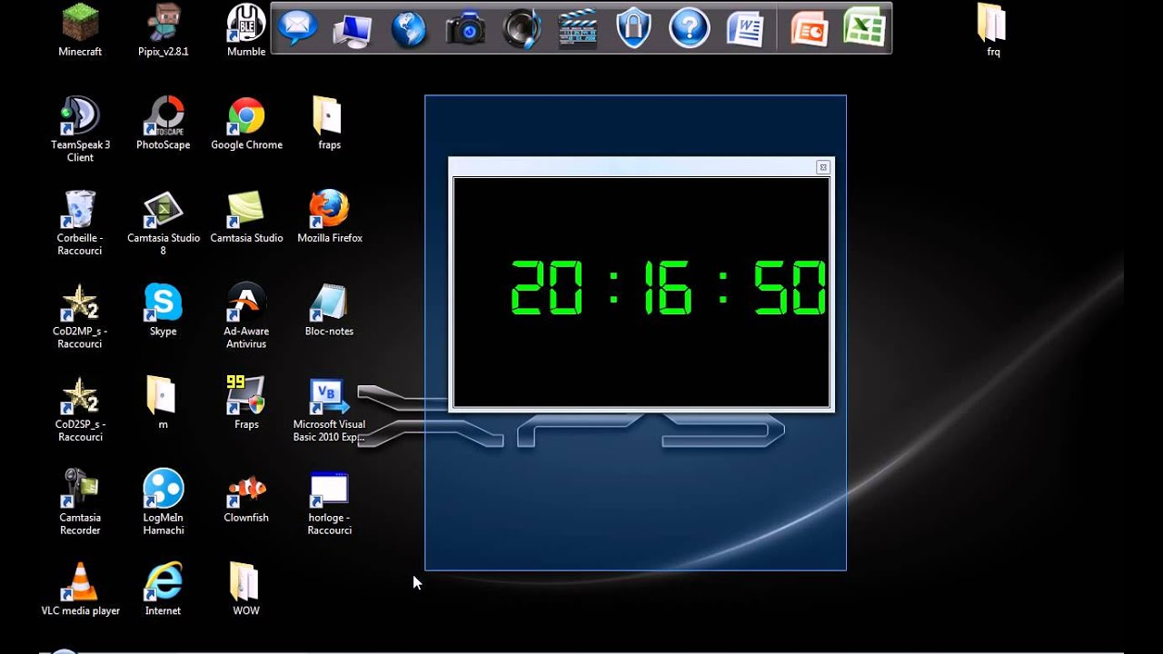 Pr sentation de mon premier programme une horloge digital youtube - Horloge de bureau windows ...