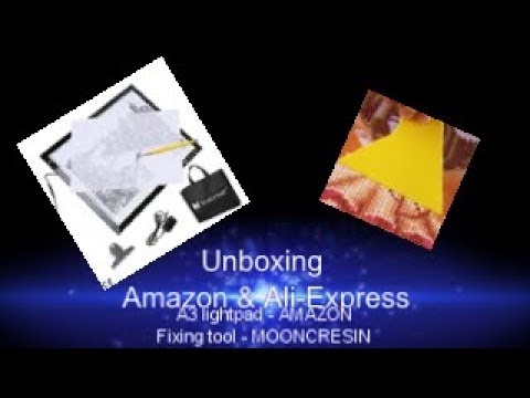 4b37c2f510 Unboxing of Fixing tool and A3 Light pad for Diamond painting - YouTube