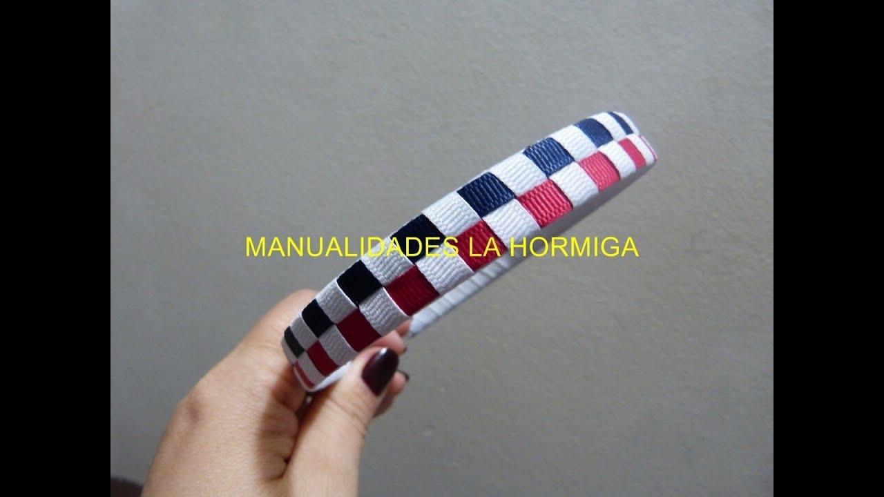 Como tejer diademas en cintas, fáciles trenzado para decorar diademas,  vídeo No.199