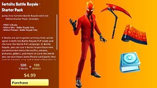 How To Get INFERNO SKIN BUNDLE (FREE CHALLENGES) Fortnite NEW STARTER PACK 7 - RELEASE DATE Predict