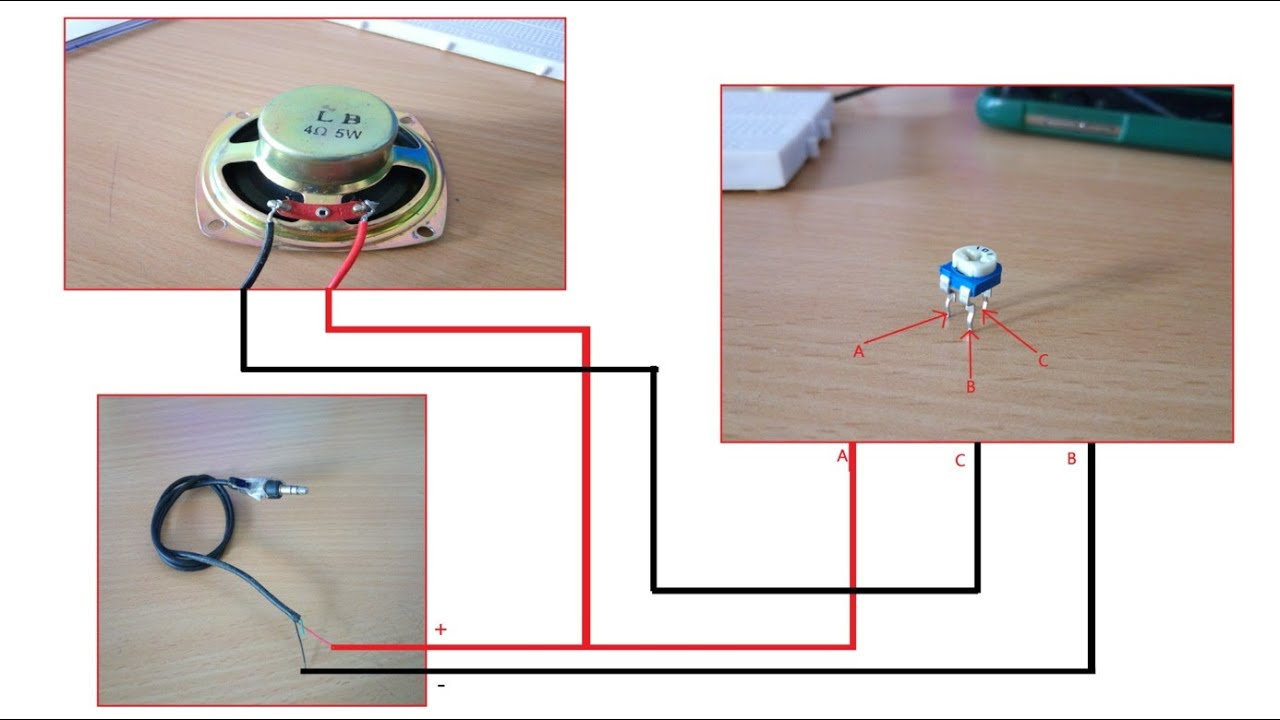 Speaker volume control by potentiometer !!!! - YouTube   Speaker Rheostat Wiring Diagram      YouTube