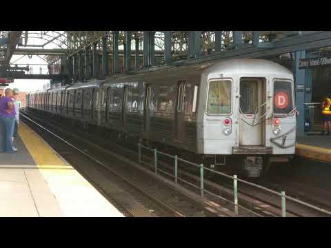 Manhattan Bound R68 (D) Train Departing Coney Island Track 6 (via Culver)