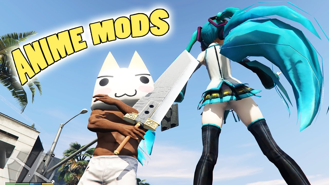 Gta 5 Cartoon Characters : Gta mods ultimate anime pack v pc fun
