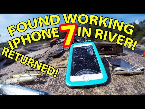FOUND 2 Lost IPHONE 7's in the RIVER!!! STILL WORKING!! RETURNED!! River Treasure!