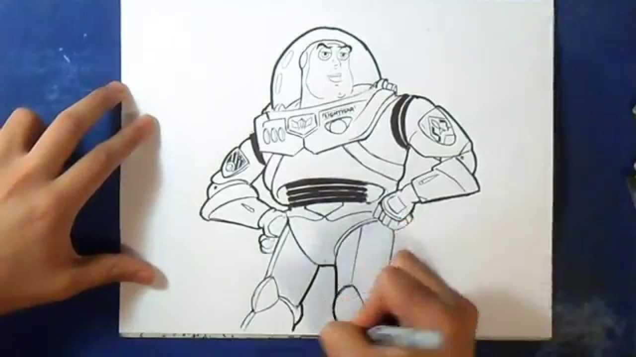 Comment Dessiner Buzz Lightyear Histoire De Jouet Youtube