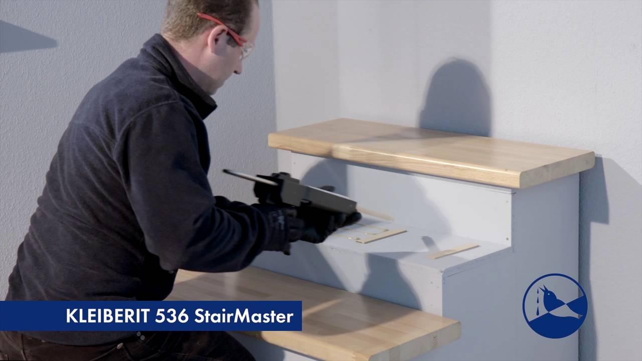 Berühmt KLEIBERIT 536.0 StairMaster - Treppenstufen leimen - YouTube OU93