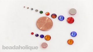 Overview: Swarovski Crystal Rhinestone Sizes and the Difference between Hotfix and No Hotfix