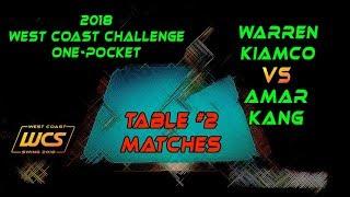 #14 - Warren KIAMCO vs Amar KANG / 2018 West Coast Challenge 1-Pocket!