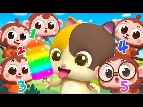 Five Little Monkeys  Numbers Song  Nursery Rhymes  Kids Songs  Kids Cartoon  BabyBus
