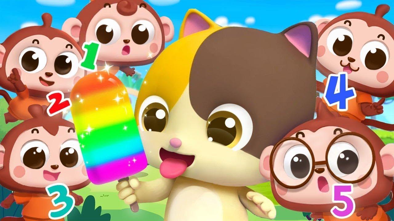 Five Little Monkeys | Numbers Song | Nursery Rhymes | Kids Songs | Kids Cartoon | BabyBus