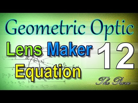 Physics 2 ( KU ) -  แสงเชิงเรขาคณิต - Geometric Optic 12 :: Lens Maker Equation