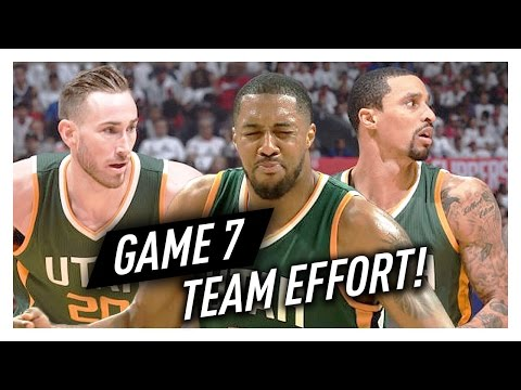 Gordon Hayward, George Hill & Derrick Favors Game 7 Highlights vs Clippers 2017 Playoffs - TAKE NOTE