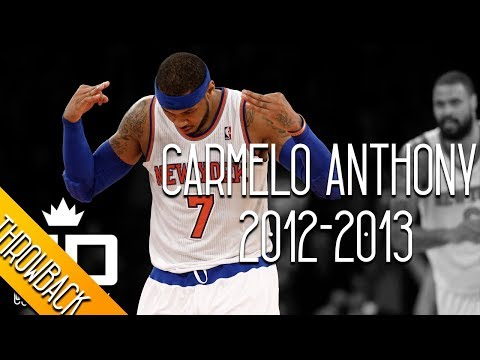 Carmelo Anthony THROWBACK 2012-2013 Season Highlights // 28.7 PPG, 6.9 RPG, 2.6 APG - SCORING CHAMP