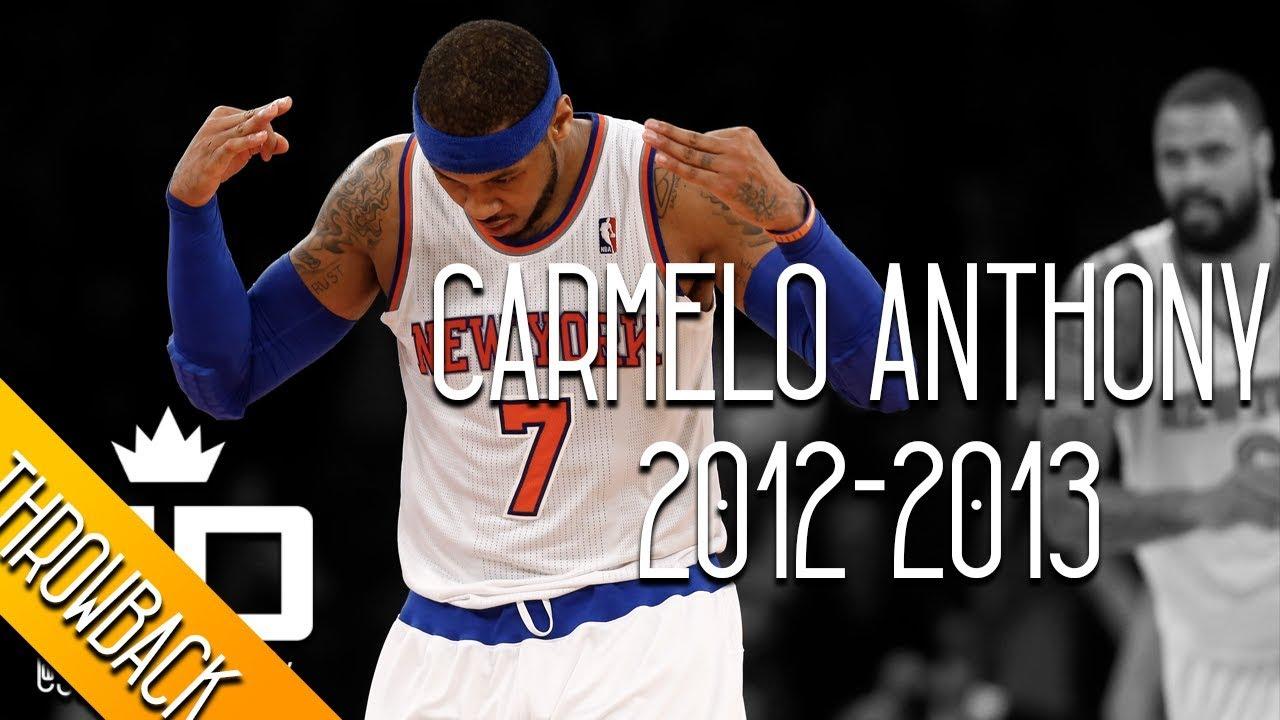 650865a42e5 Carmelo Anthony THROWBACK 2012-2013 Season Highlights    28.7 PPG ...
