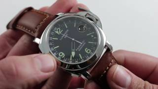 panerai luminor gmt pam 063 luxury watch review