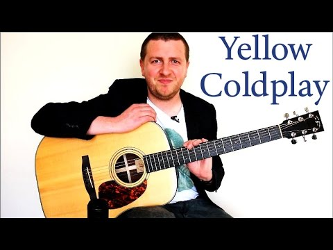 Guitar yellow guitar chords : Yellow - Guitar Lesson - Coldplay - 100% Accurate - Chords + ...