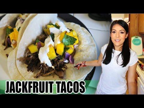 """JACKFRUIT """"CARNITAS"""" TACOS with MANGO SALSA - (EdgyVeg recipe) - #TastyTuesday"""
