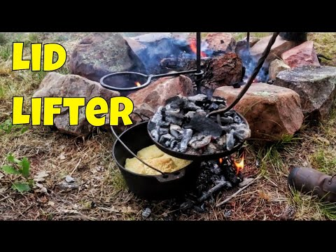Dutch Oven Lid Lifter For Campfire Cooking