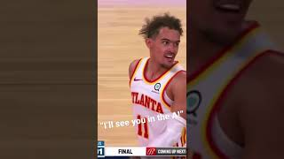 Trae young going at it with a fan👀 #shorts