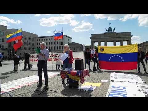#HaendeWegVonVenezuela Kundgebung Brandenburger Tor Sa 18.5. Rede Volker Wirth #HandsOffVenezuela
