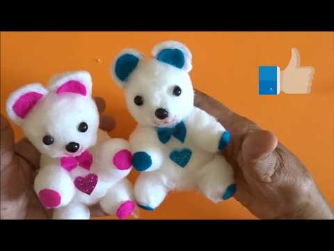 Cotton Crafts    Cotton Doll    Teddy From Cotton    Doll Making    Cotton Craft Easy    Tutorial