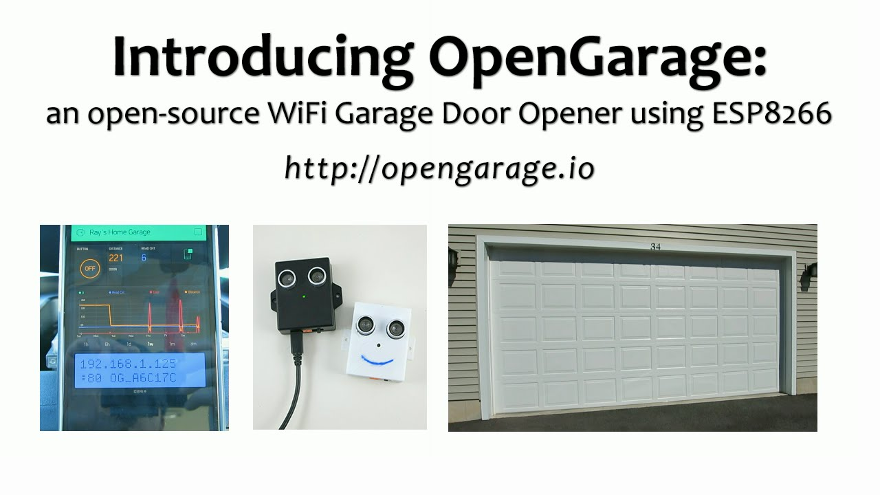 Introducing Opengarage An Open Source Wifi Garage Door Opener Using