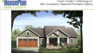 Pictures Of Craftsman Home Designs - Hpg-1509b-1 Video Walkthrough