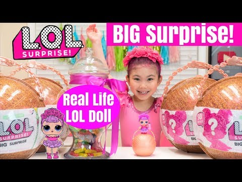 Real Life LOL Doll opens LOL Surprise BIG Surprise limited edition gold balls ultra rare lil sisters