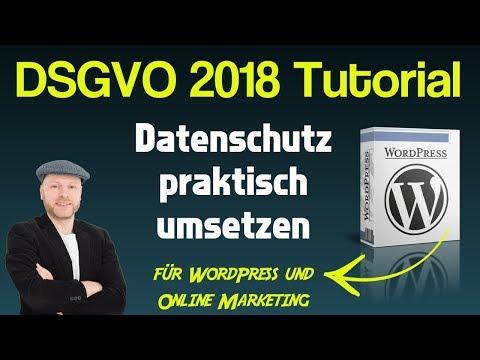 Wie Du Dein WordPress DSGVO konform machst ᐅ WP DSGVO Tools Tutorial