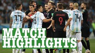 Argentina vs Croatia World Cup Football Highlights 2018