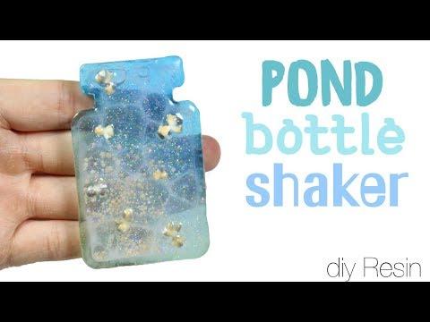 How to DIY Pond Bottle Bezel Shaker Charm UV Resin Tutorial