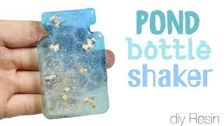 How to DIY Pond Bottle Bezel Shaker Charm UV Resin Tutorial