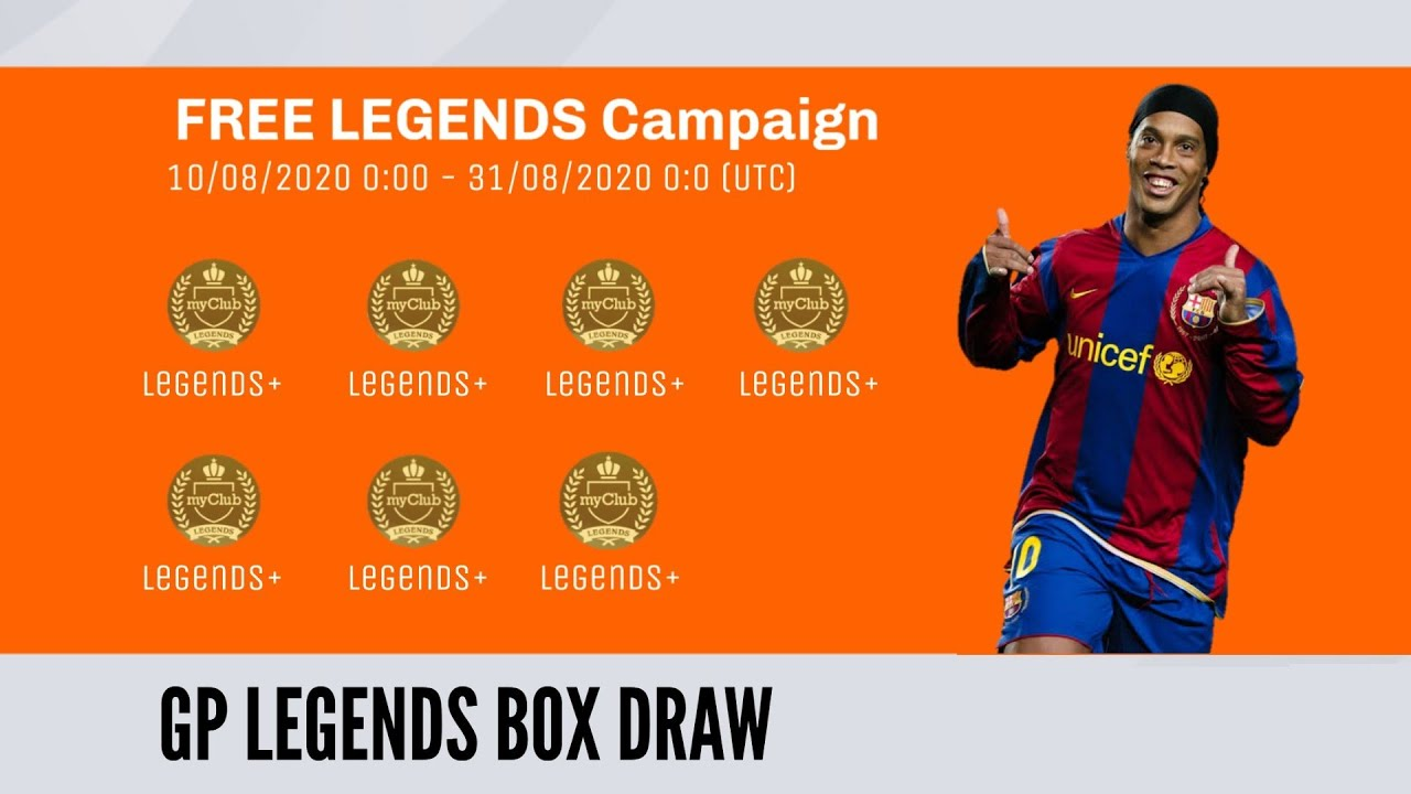 Free 9× Legends Packs | Gp Legends Box Draw Pes 2020 Mobile