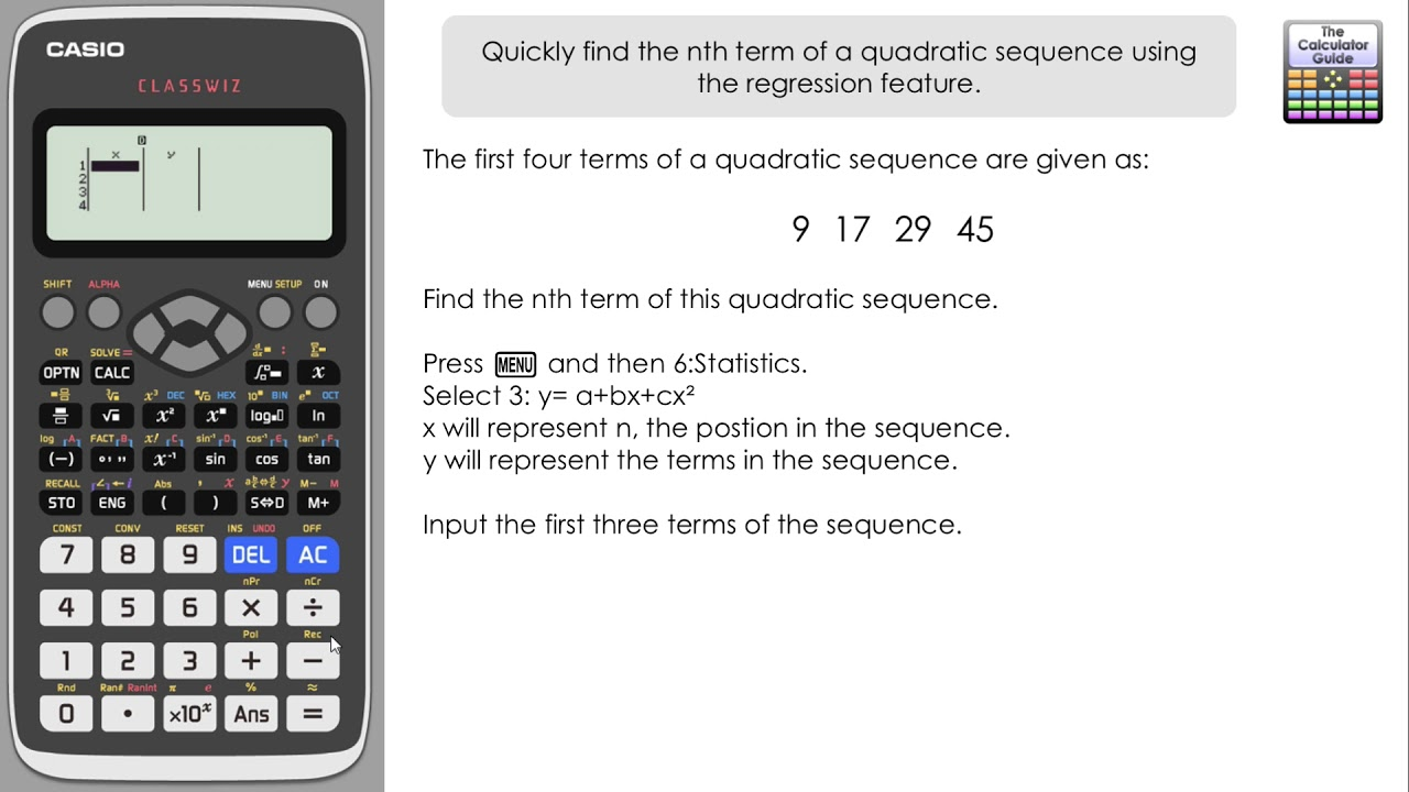 Find the nth term calculator