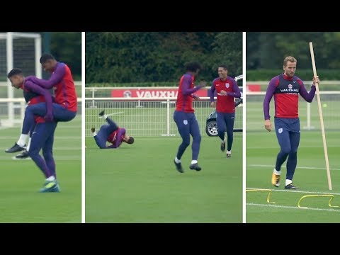 England Train Ahead Of World Cup Qualifier Against Slovakia