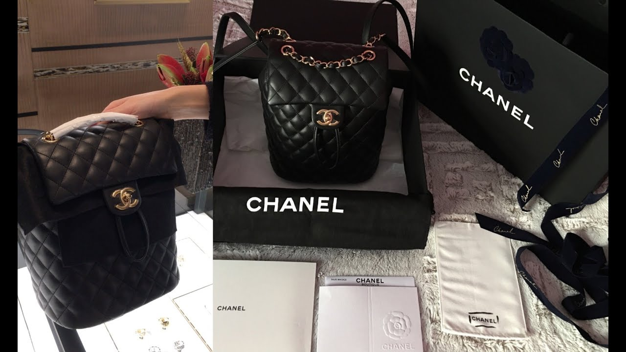 83de91bd3e95 UNBOXING CHANEL URBAN SPIRIT CALFSKIN LEATHER BACKPACK CRUISE 2018 || Marta  In_Vogue_UK