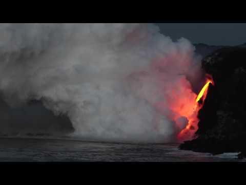 Kamokuna Bench Collapse at Hawaii Volcanoes National Park